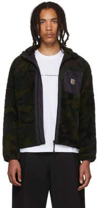 Carhartt Work In Progress Green Camo Prentis Liner Sweatshirt
