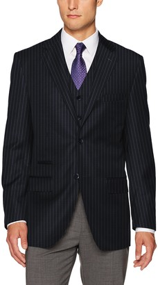 Steve Harvey Men's Chalk Stripe Fit Suit Separate Jacket