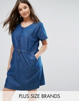 Junarose Denim Dress With Waist Tie