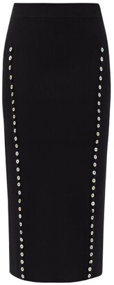 Altuzarra Marilla Buttoned-seam Ribbed Pencil Skirt - Black