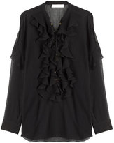 Chloé Ruffled Front Cotton Blouse
