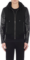 Givenchy Men's Neoprene & Quilted Leather Hooded Jacket