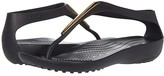Crocs Serena Metallic Bar Flip (Gold/Black) Women's Shoes