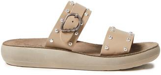 Ancient Greek Sandals Preveza Buckled Studded Leather Slides