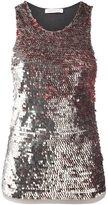 Pierre Balmain sequined halterneck vest - women - Polyamide/Cotton - 44