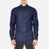 Michael Kors Men's Slim Indigo Long Sleeve Shirt