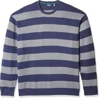 Izod Men's Tall Newport Stripe 7 Gauge Crewneck Sweater