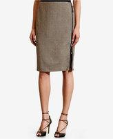Lauren Ralph Lauren Zip-Front Plaid Skirt