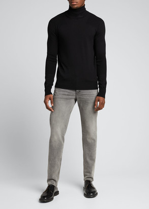 Amiri Men's Fitted Wool Turtleneck Sweater