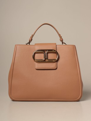 Elisabetta Franchi Tote Bag In Synthetic Leather With Logo