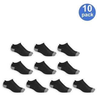 Athletic Works Men's Big and Tall No Show Socks 10 Pack