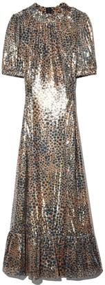 Sea Leo Sequin Midi Dress in Gold