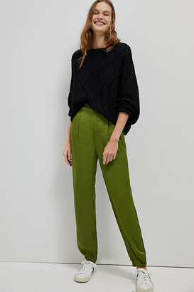 Anthropologie Diandra Pleated Joggers By in Green Size 2