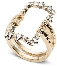 Alexis Bittar Crystal-Encrusted Oversized Link Ring