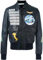 Off-White multi prints bomber jacket - men - Cotton/Calf Leather - L