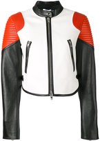 Givenchy colour-block biker jacket - women - Lamb Skin/Acetate/Viscose - 38