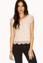 Forever 21 Dainty Sequined Blouse