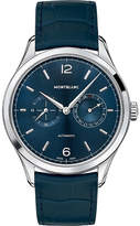 Montblanc 116244 Heritage Chronométrie Stainless Steel And Leather Watch