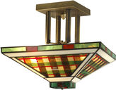 Dale Tiffany Dale TiffanyTM Green/Amber Flush Mount
