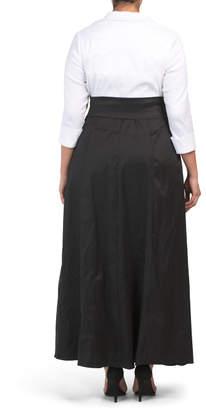 Plus Shirt Dress Evening Gown