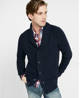 Express Mixed Stitch Shawl Collar Cardigan