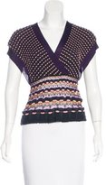 M Missoni Knit Cap Sleeve Top