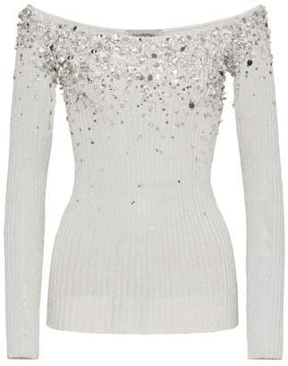 Valentino Bead-Embellished Sweater