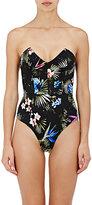 Fleur Du Mal Women's Tropical Floral One-Piece Swimsuit-BLACK