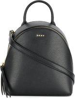 Donna Karan cross Saffiano mini backpack - women - Calf Leather - One Size