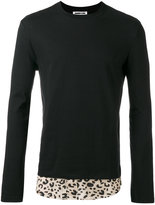 McQ by Alexander McQueen leopard print hem sweatshirt - men - Cotton/Viscose - 50