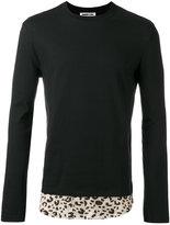 McQ by Alexander McQueen leopard print hem sweatshirt
