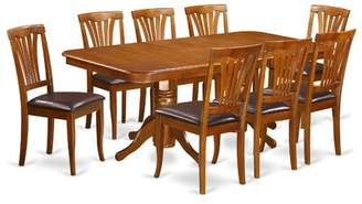 August Grove Pillsbury 9 Piece Dining Set with Double Pedestal Table Legs August Grove