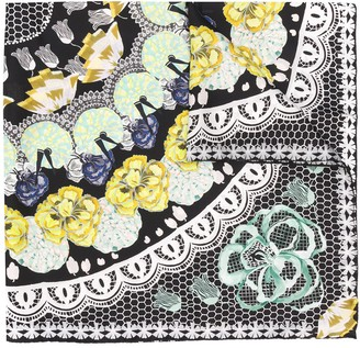 Temperley London Nora printed lace silk scarf