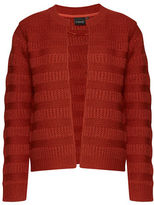B. Young Maille Open Knit Striped Cardigan