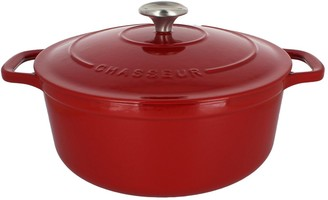 Chasseur French 5.25-Quart Round Enameled Cast Iron Dutch Oven