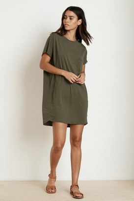 Velvet by Graham & Spencer Annie Cotton Slub T-Shirt Dress