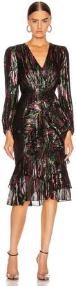 Saloni Alya Dress in Black Rainbow | FWRD
