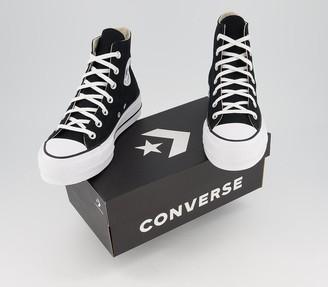Converse Platform Hi Trainers Black White
