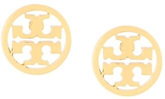 Tory Burch Logo Circle Stud Earrings