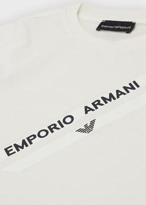 Emporio Armani Supima T-Shirt With Logo Print