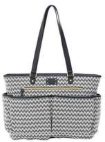 Carter's All The Time Chevron Tote Diaper Bag in Black/Ivory