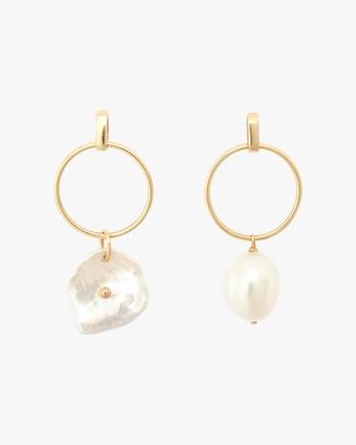 Poppy Finch Circle Petal Pearl Hoop Earrings