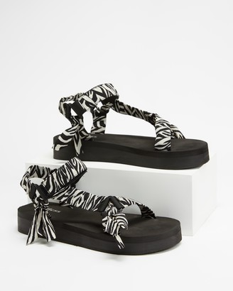 Endless - Women's Black Strappy sandals - Shauni Sandals - Size 5 at The Iconic