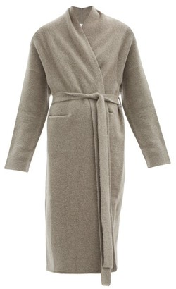 LAUREN MANOOGIAN Felted Cashmere-blend Longline Cardigan - Mid Grey