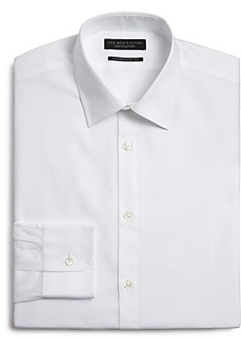 The Men's Store at Bloomingdale's Texture Micro Herringbone Regular Fit Dress Shirt - 100% Exclusive