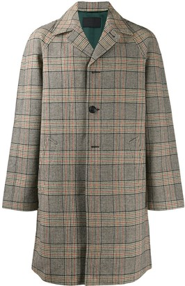 Prada Checked Single-Breasted Coat