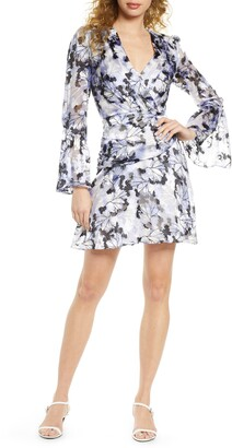 Harlyn Floral Burnout Long Sleeve Dress
