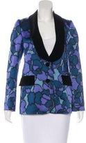 Marc Jacobs Velvet-Trimmed Silk Blazer