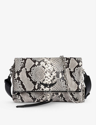 Zadig & Voltaire Rocky Wild snake-embossed leather cross-body bag