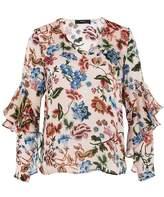 Hallhuber Flounce sleeve blouse